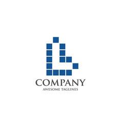 best letter l logo square concept vector image