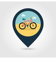 Bicycle pin map icon Summer Vacation vector