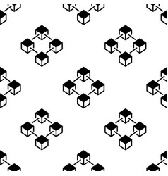 blockchain pattern - block chain cubes vector image
