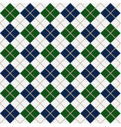 blue and green argyle harlequin seamless pattern vector image