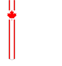 Canadian flag symbol ribbon frame vector
