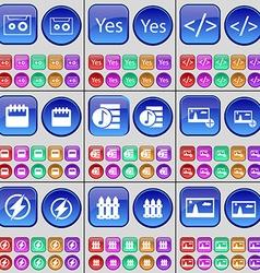 Cassette Yes Codem Calendar Playlist Picture Flash vector