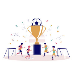 children football championship flat style vector image