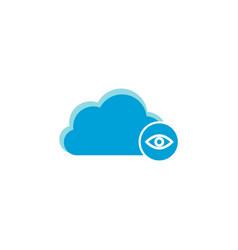 cloud computing icon eye icon vector image
