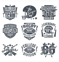College rugby team emblem vector
