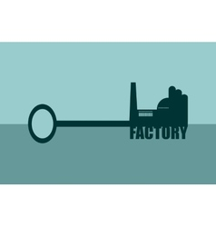 concept of a key vector image vector image