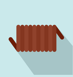 Cord spring coil icon flat style vector