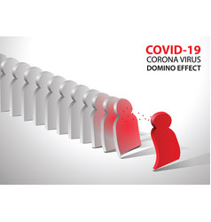 covid19-19 virus pathogen impact domino create vector image