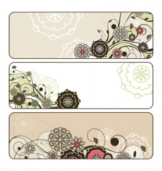 Cute floral banners vector