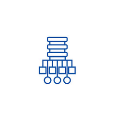 database network line icon concept vector image