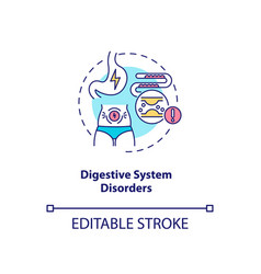 Digestive system disorders concept icon vector
