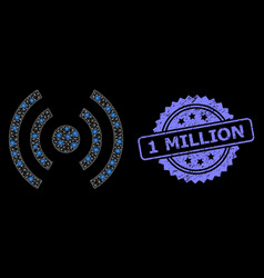 Distress 1 million seal and glossy network mobile vector