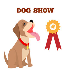 Dog show colorful banner vector