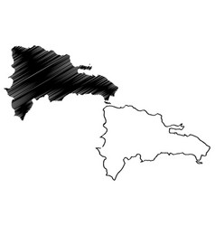 dominican republic map vector image