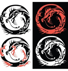 Dragontattoo vector