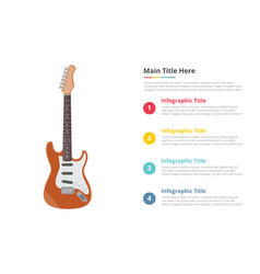 electric guitar infographic template with 4 vector image