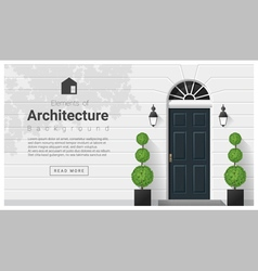 Elements of architecture front door background 15 vector image