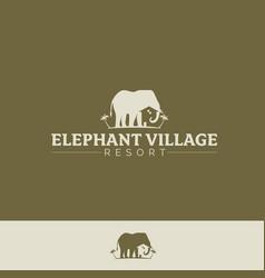 elephant village version 2 vector image