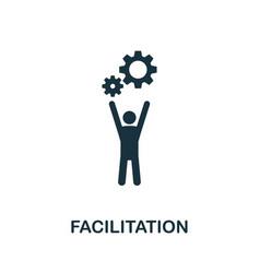 facilitation icon symbol creative sign from agile vector image