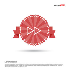 Fast forward icon - red ribbon banner vector