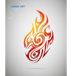 Fire flame design vector