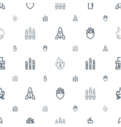 flame icons pattern seamless white background vector image