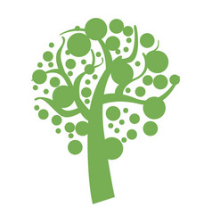 green eco tree icon simple style vector image