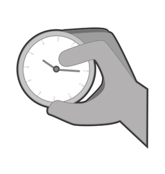 Hand human with watch vector