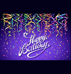 Happy birthday celebration design colorful vector