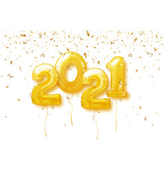Happy new year 2021 background 2021 number vector