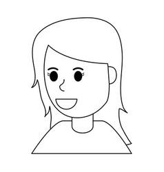 Happy smiling woman icon image vector