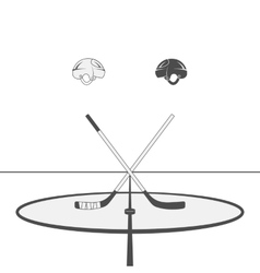 Hockey Design Elements vector image