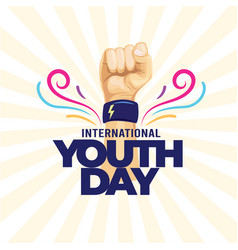 International youth day poster banner vector