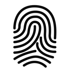 isolated silhouette of fingerprints vector image
