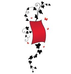 ivy floral banner vector image
