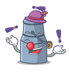 juggling milk can mascot cartoon vector image
