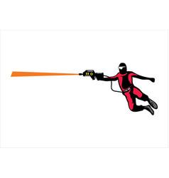 laser tag game player design vector image