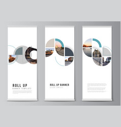 layout roll up mockup design templates vector image