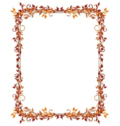 Leaves frame autumn vector