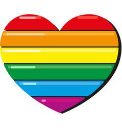 lgbt rainbow heart vector image