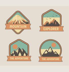 logo landscape mountain vector image
