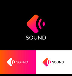 Logo sound musical acoustics identity vector