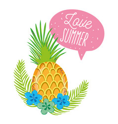 love summer cartoons vector image