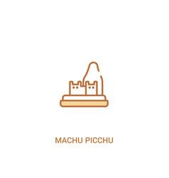 Machu picchu concept 2 colored icon simple line vector