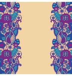 Mehndi vertical backrtound vector image