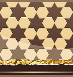 Milk chocolate pattern vector