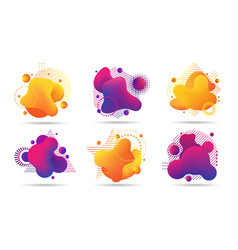 paint 3d futuristic shapes vector image