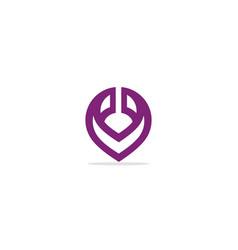 pin position abstract logo vector image