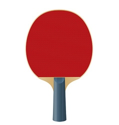 Racket for playing table tennis isolated on white vector image