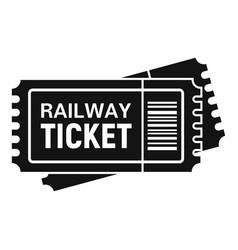 Railway ticket icon simple style vector